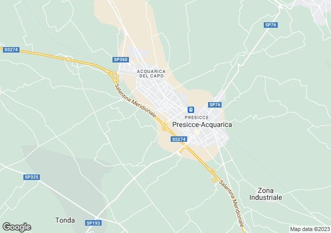 Map for Presicce, Lecce, Apulia