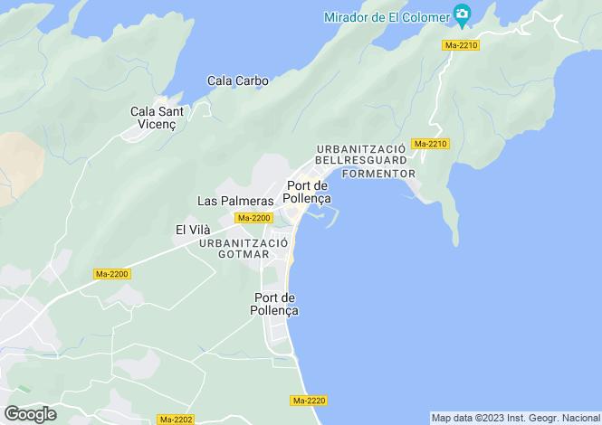 Map for Puerto Pollenca, Mallorca, Balearic Islands