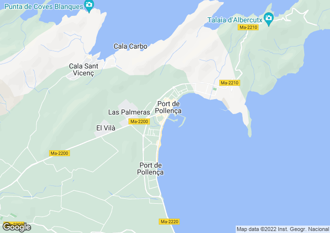 Map for Unique renovation opportunity,1 minutes from the beach of Port de Pollensa