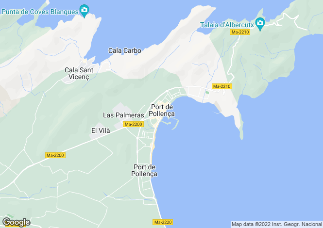 Map for Port de Pollença, Mallorca, Balearic Islands