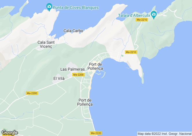 Map for Balearic Islands, Mallorca, Port de Pollenca