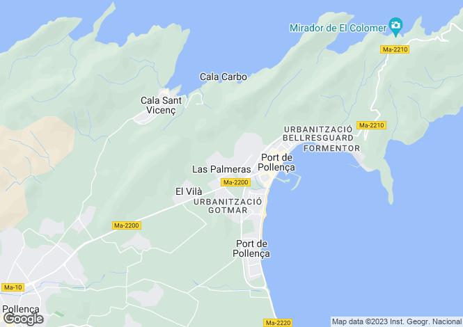 Map for Balearic Islands, Mallorca, Puerto Pollensa