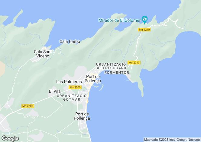 Map for Balearic Islands, Mallorca, Port de Pollenca