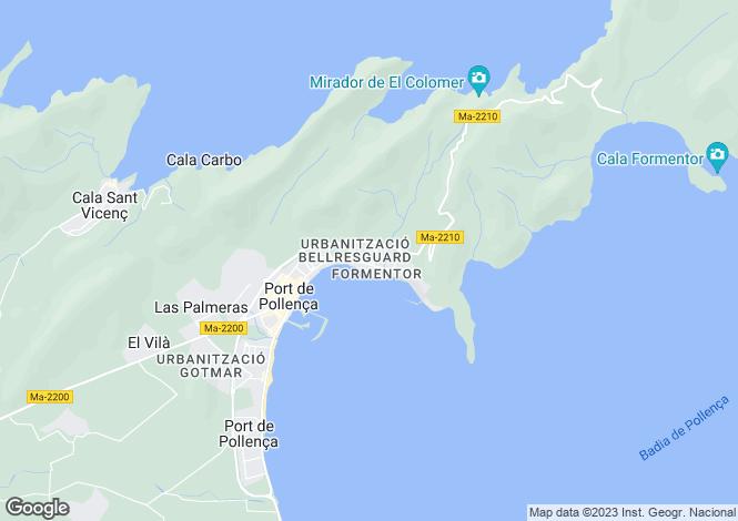 Map for Port de Pollença, Mallorca, Balearic Islands