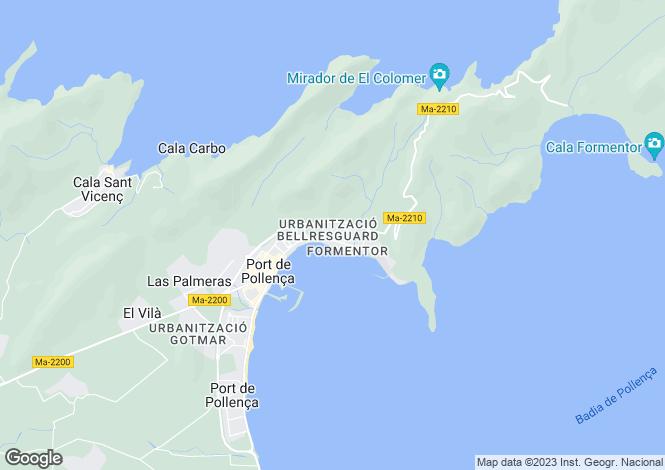 Map for Spain - Balearic Islands, Mallorca, Puerto Pollensa