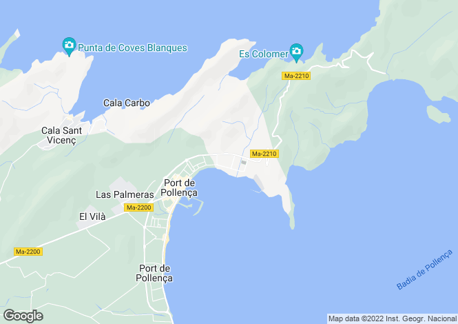 Map for Puerto Pollenca, Balearic Islands, 07470, Spain