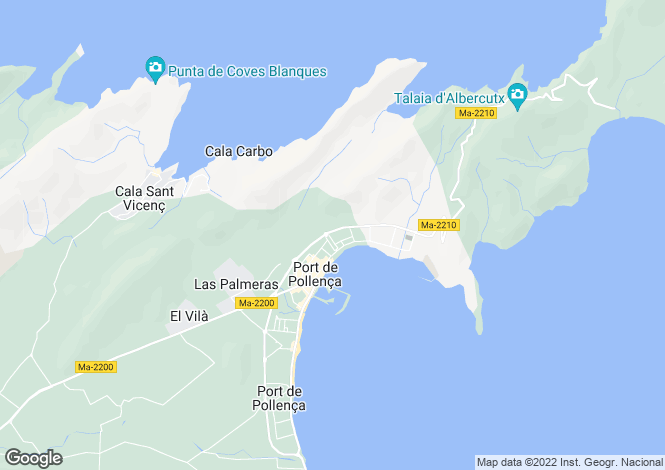 Map for Spain - Balearic Islands, Mallorca, Puerto Pollensa
