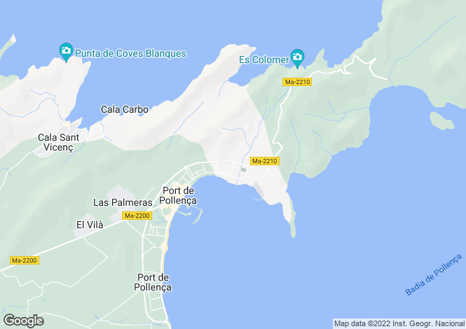 Map for Bellresguard, Puerto Pollenca, Balearic Islands, 07470, Spain