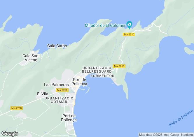 Map for Balearic Islands, Mallorca, Puerto Pollenca