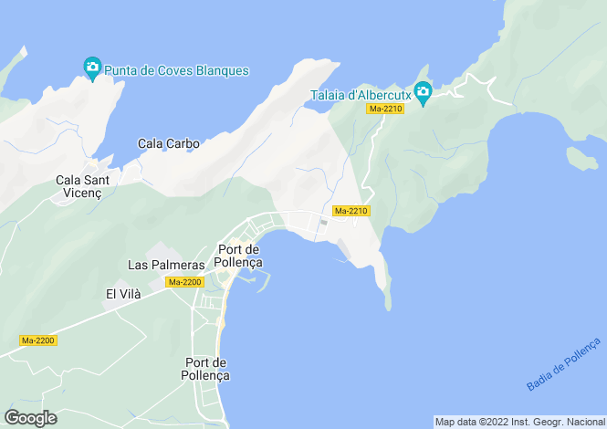 Map for Puerto Pollenca, Balearic Islands, 07470, Spain
