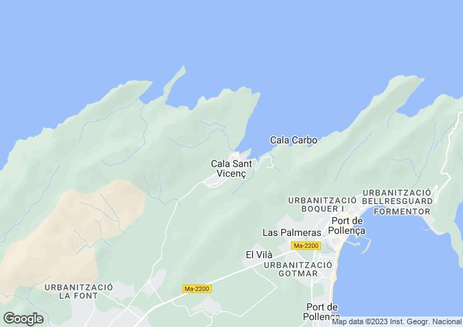 Map for Pollença, Mallorca, Balearic Islands