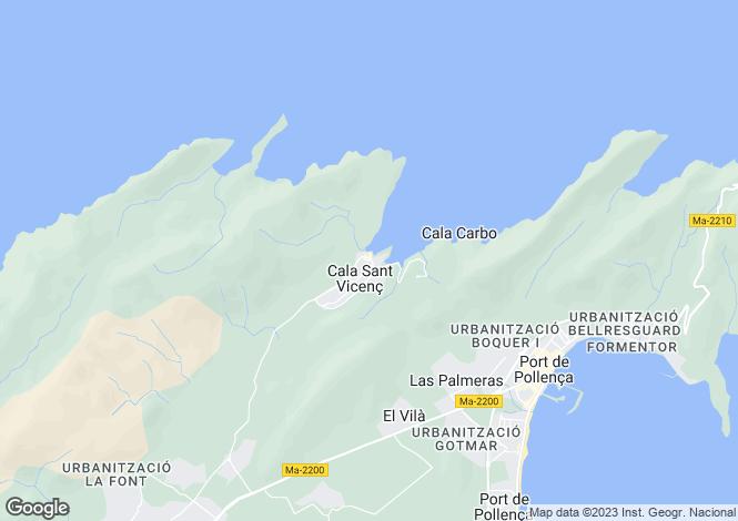 Map for C/Cala Clara 145, Cala San Vicente, Spain