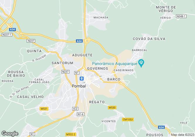 Map for Leiria, Pombal