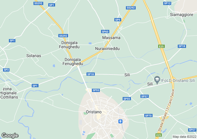 Map for Oristano, Sardinia, Italy