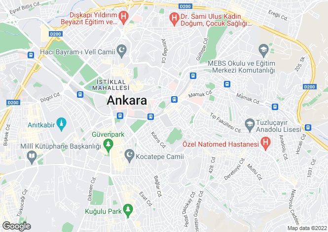 Map for Mamak, Ankara