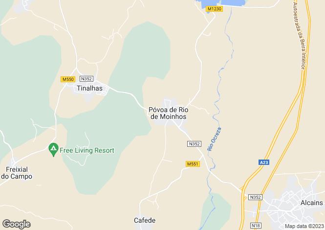 Map for Póvoa De Rio De Moinhos, Beira Baixa