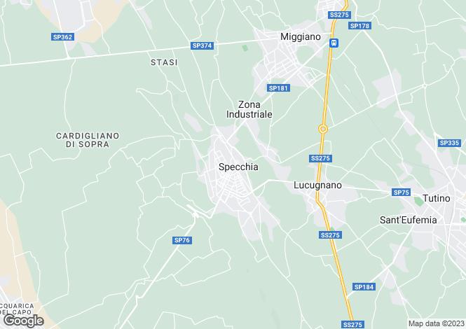 Map for Specchia, Lecce, Apulia