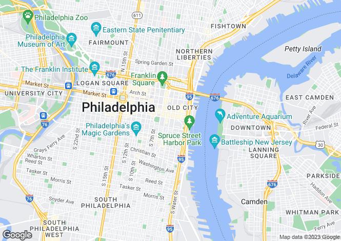 Map for Pennsylvania, Philadelphia County, Philadelphia