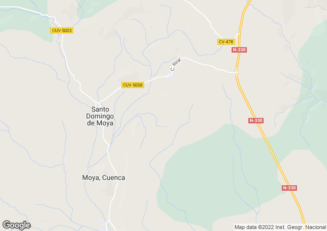Map for Castile-La Mancha, Cuenca, Moya