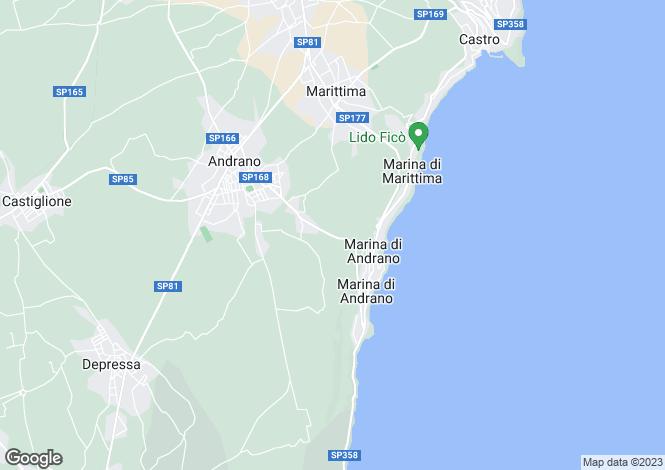 Map for Diso, Lecce, Apulia