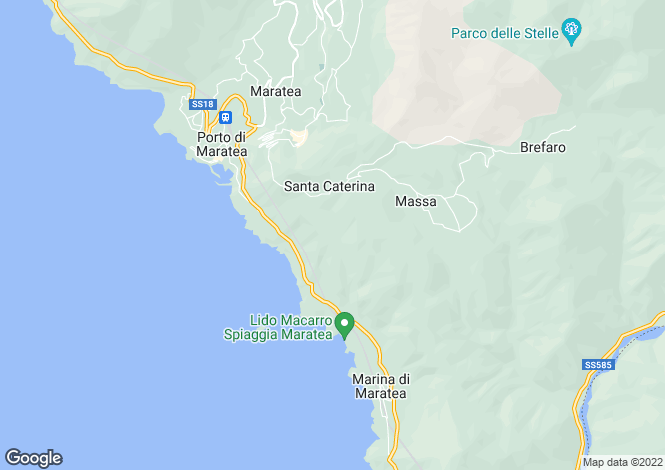 Map for Maratea