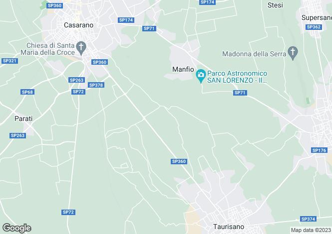 Map for Taurisano, Lecce, Apulia