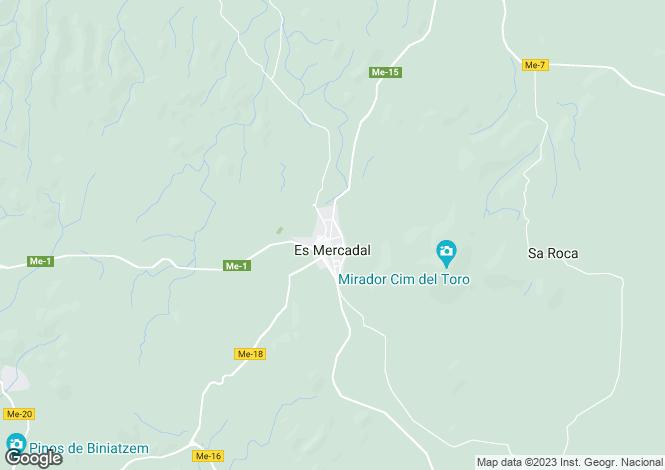 Map for Balearic Islands, Menorca, Es Mercadal