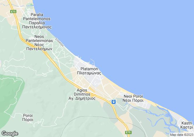 Map for Central Macedonia, Pieria, Platamonas