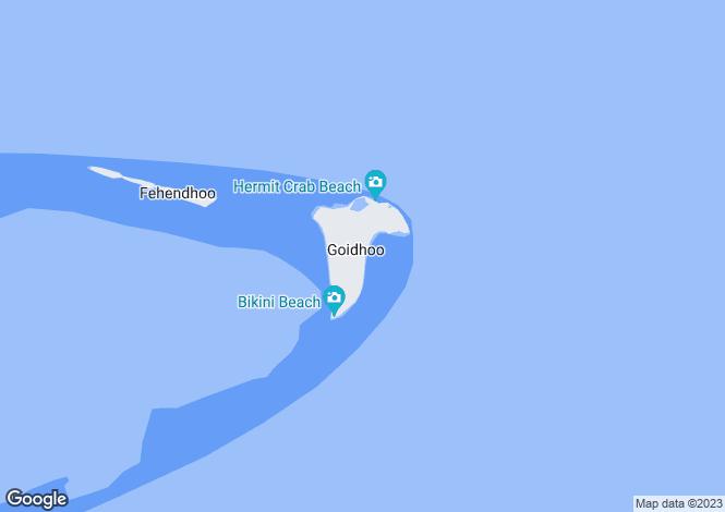 Map for Kunfunadhoo Island, Baa Atoll, Republic of Maldives