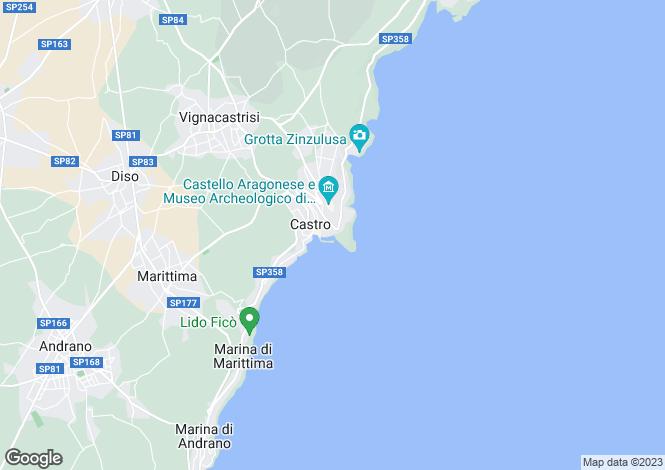 Map for Via Litoranea per Santa Cesarea, Castro, Apulia