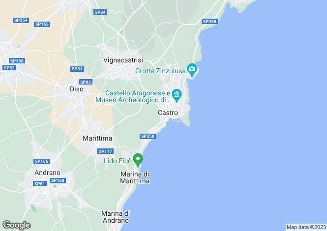 Map for Castro, Lecce, Apulia