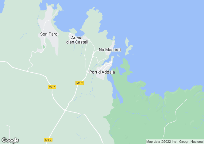 Map for Puerto Addaya, Menorca, Balearic Islands