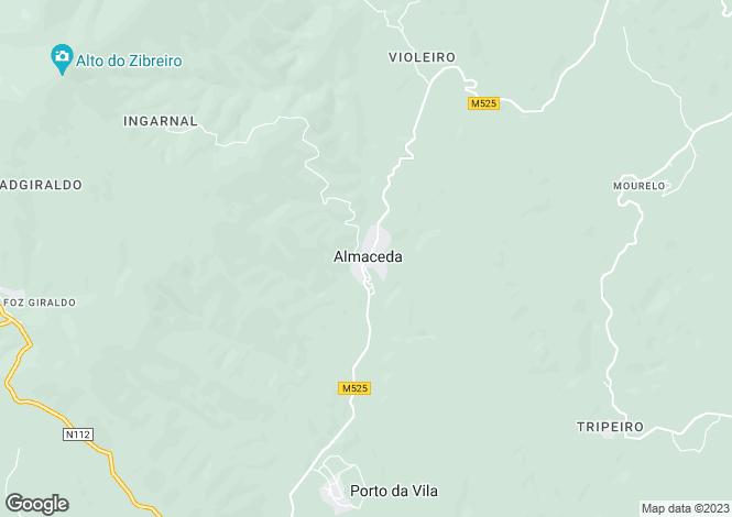 Map for Almaceda, Castelo Branco, Castelo Branco