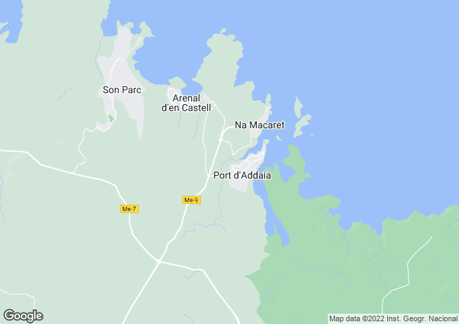 Map for Arenal d'en Castell, Menorca, Balearic Islands