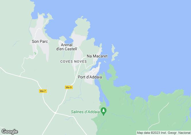 Map for Cala Moli, Ibiza, Balearic Islands