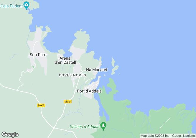 Map for Menorca, Macaret, Port d'Addaia