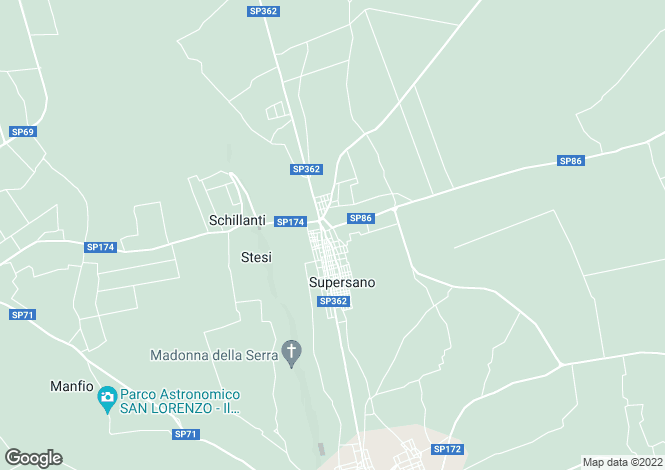 Map for Via Tito Minniti, Supersano, Apulia