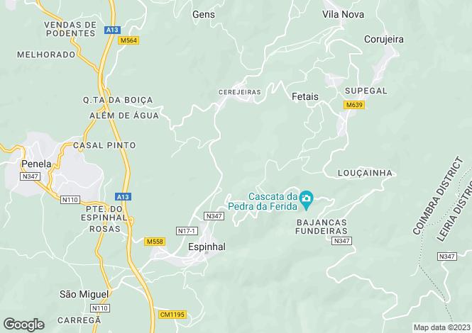 Map for Espinhal, Beira Litoral