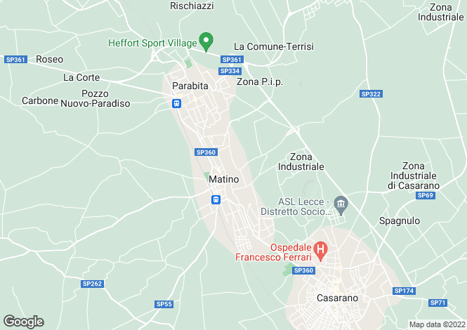 Map for Parabita, 73052, Italy