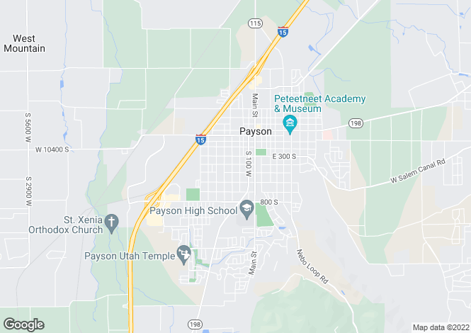 Map for USA - Utah, Utah County, Payson