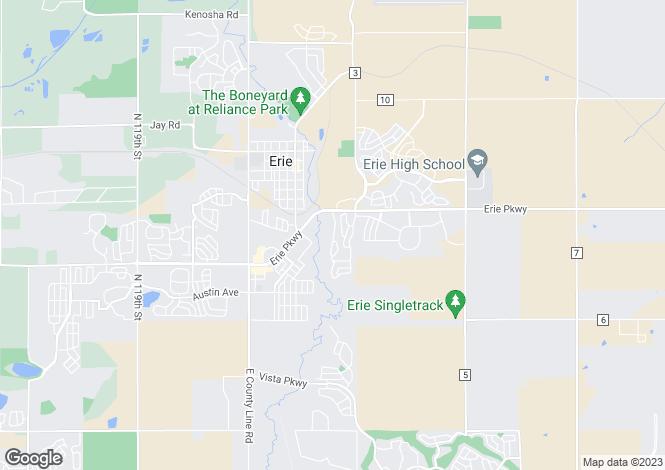 Map for USA - Colorado, Boulder County, Erie