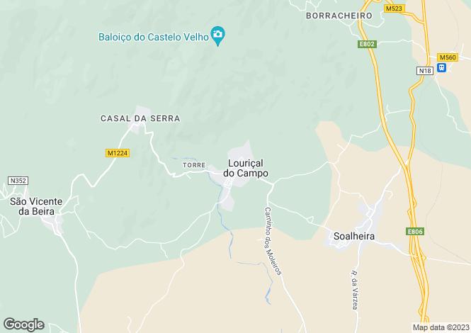 Map for Louriçal Do Campo, Beira Baixa
