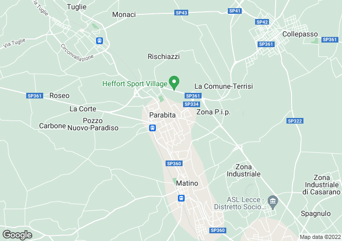 Map for Parabita, Lecce, Apulia
