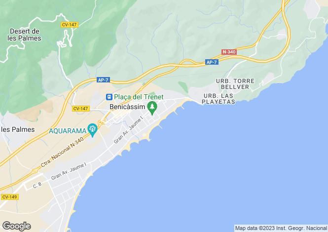 Map for Benicasim, Castellón de la Plana, Valencia