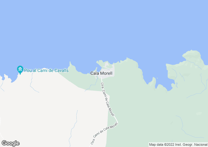 Map for Ciutadella de Menorca, Menorca, Balearic Islands