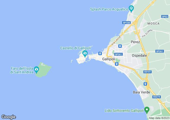 Map for Apulia, Lecce, Gallipoli