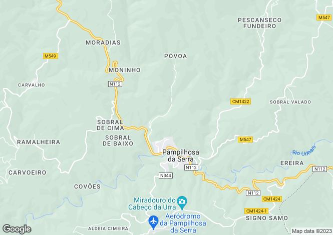 Map for Pampilhosa da Serra, Beira Litoral
