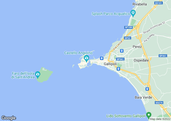 Map for Lungomare Marconi, Gallipoli, Apulia