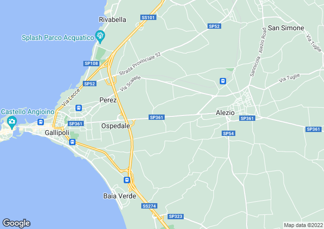 Map for SP361, Gallipoli, Apulia