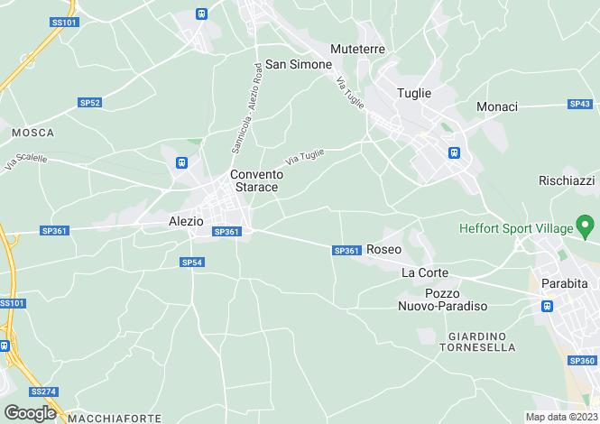 Map for Alezio, Lecce, Apulia
